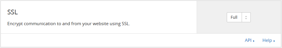 Option SSL CloudFlare